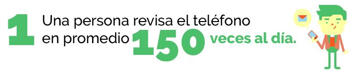 Una persona revisa el teléfono 150 veces al día