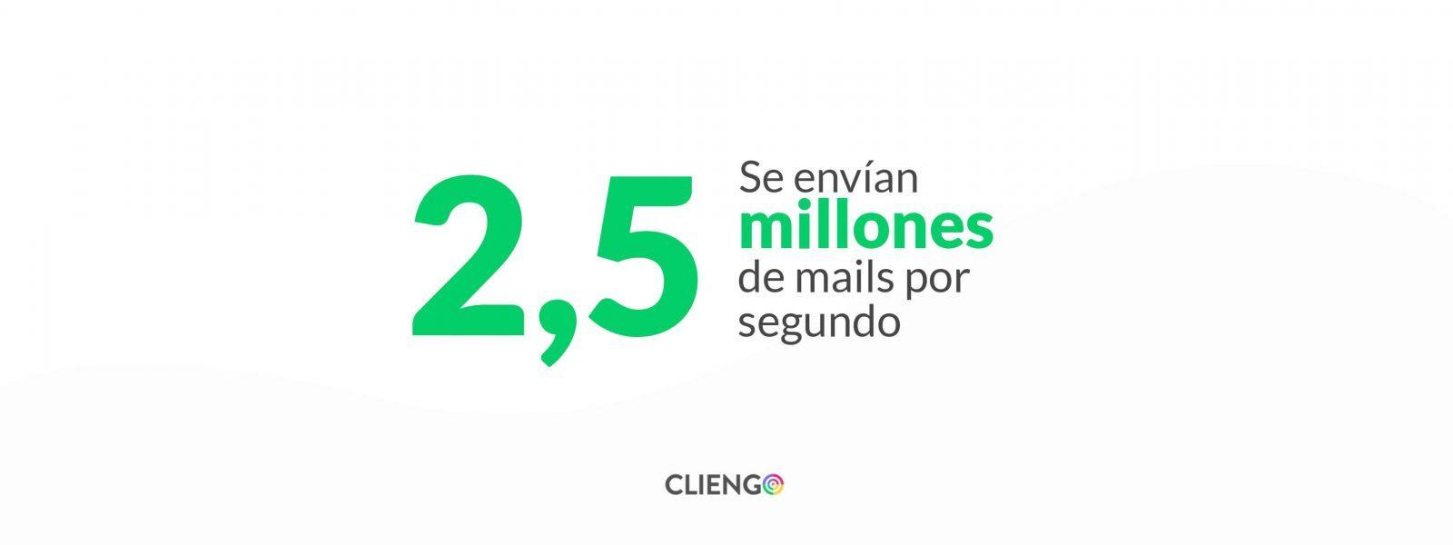 Se envian 2,5 millones de mails por segundo