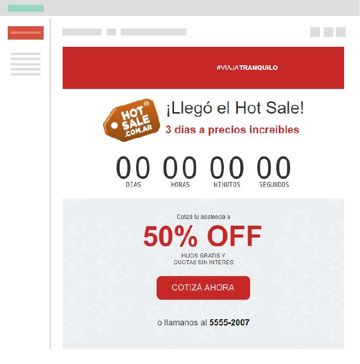 Sentido de urgencia en publicidad Hot Sale Búsquedas de ahorro