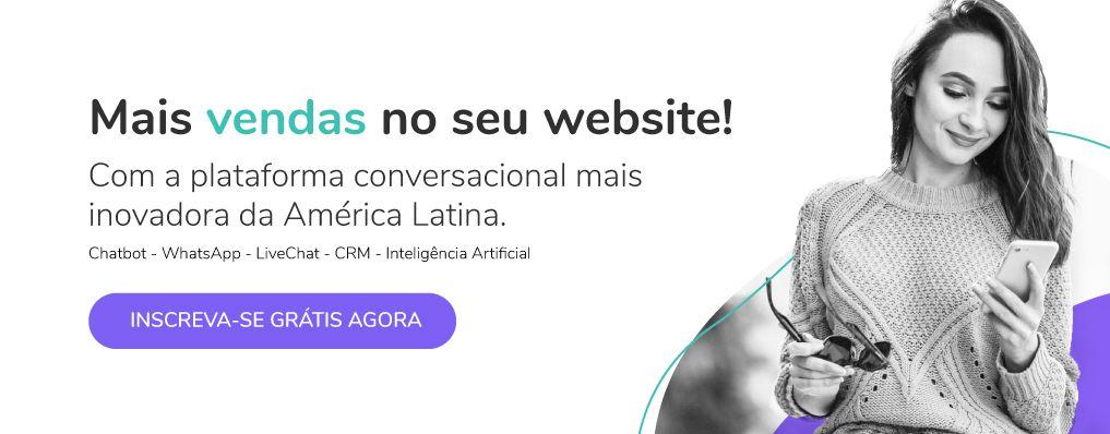 Registre-se gratuitamente na plataforma Cliengo Conversational com chatbot live chat whatsapp crm inteligência artificial